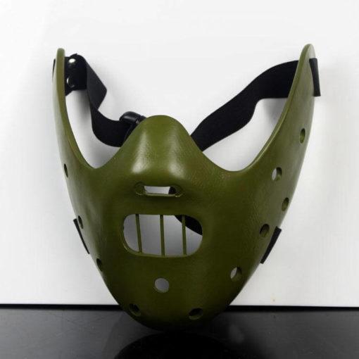 На картинке маска доктора Ганнибала Лектора (3 цвета), общий вид, цвет зеленый.