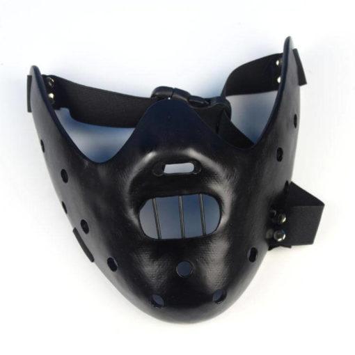 На картинке маска доктора Ганнибала Лектора (3 цвета), вид спереди, цвет черный.