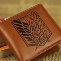 На картинке кошелек Атака Титанов (6 вариантов), вариант Эмблема Легион Разведки, цвет коричневый.
