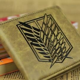 На картинке кошелек Атака Титанов (6 вариантов), вариант Эмблема Легион Разведки, цвет бежевый.