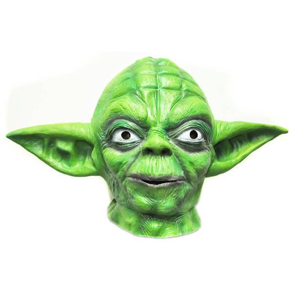 На картинке маска Йоды, вид спереди.