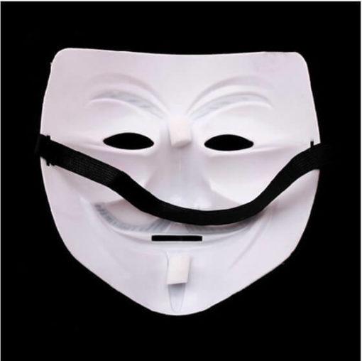 На картинке маска Гая Фокса из фильма V значит Вендетта (Анонимус), вариант 1, вид сзади.