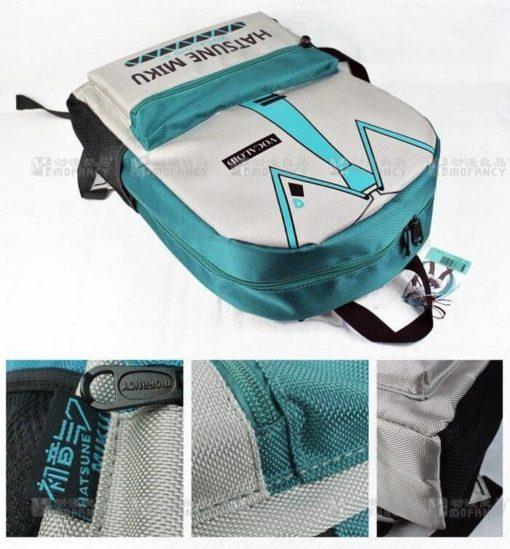 На картинке рюкзак Хатсуне Мику (Vocaloid), детали.