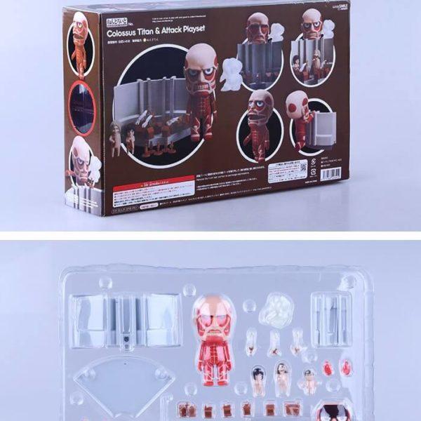 На картинке фигурка нендроид Титан (Атака Титанов), вид в упаковке.