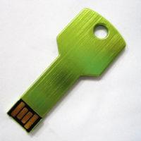 На картинке флешка в форме ключа (7 цветов), цвет зеленый.