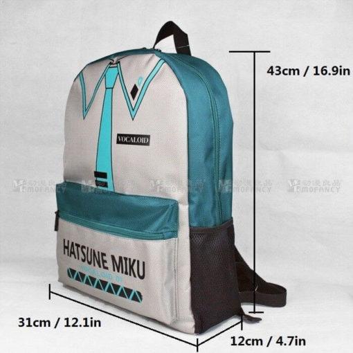 На картинке рюкзак Хатсуне Мику (Vocaloid), общий вид.