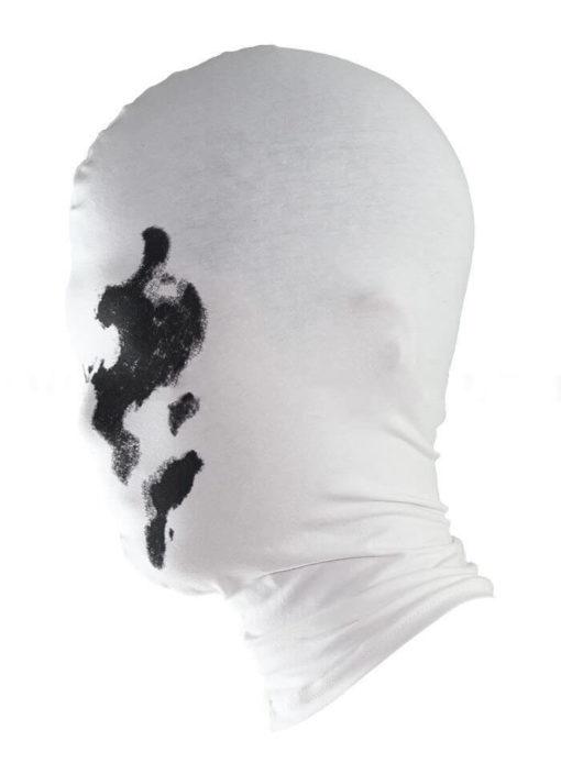На картинке маска Роршаха из «Хранители», вид сбоку.