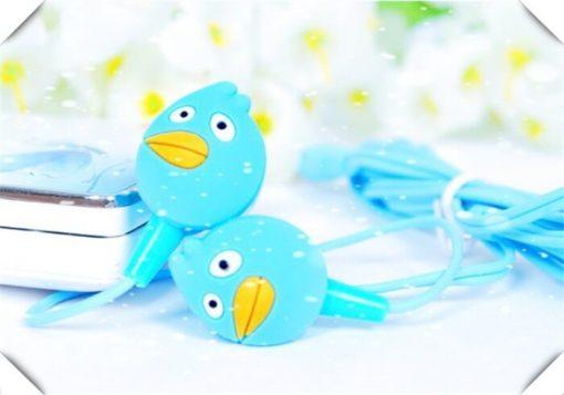На картинке наушники Angry birds (Ангри берс) (5 вариантов), цвет голубой.