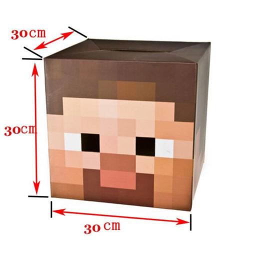 На картинке маски Майнкрафт (Minecraft) — 2 варианта, вариант Стиви.