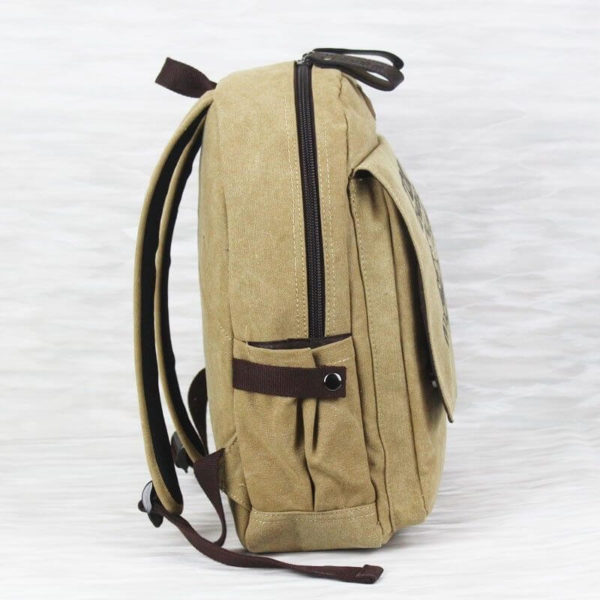 На картинке рюкзак «Токийский гуль», вид сбоку.