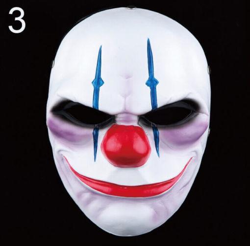 На картинке маски из Рayday 2 (Пейдей), вариант 3, вид спереди.
