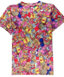 На картинке футболка с Гомером Симпсоном (Simpsons), вид сзади.