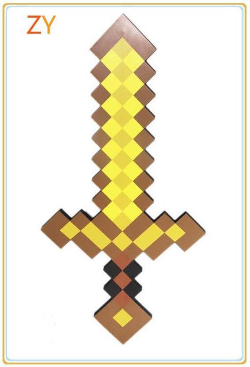 На картинке игрушка Меч алмазный из Майнкрафт (Minecraft) — 3 варианта, цвет золотой.