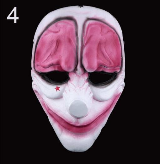 На картинке маски из Рayday 2 (Пейдей), вариант 4, вид спереди.