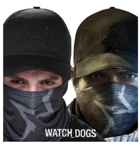 На картинке маска Эйдена Пирса (Watch dogs), вид спереди.