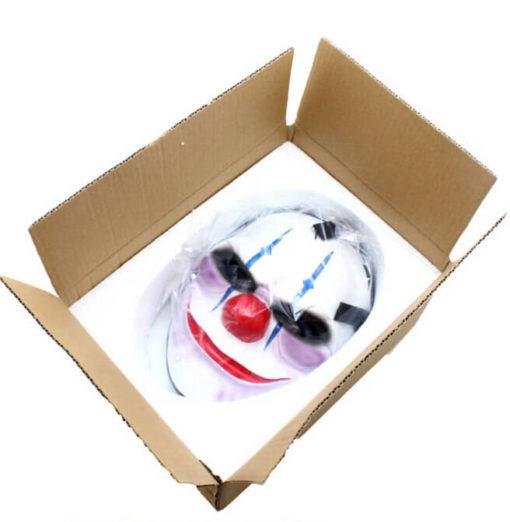 На картинке маски из Рayday 2 (Пейдей), вариант 3, вид в коробке.