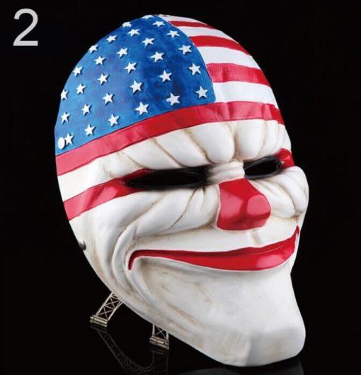 На картинке маски из Рayday 2 (Пейдей), вариант 2, общий вид.