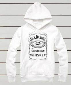 На картинке толстовка Jack Daniels (Джек Дэниэлс) 3 цвета, вид спереди, цвет белый.