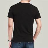 На картинке футболка Майнкрафт «Крипер» (Minecraft), вид сзади, цвет черный.