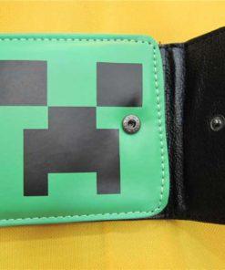 На картинке кошелек Майнкрафт (Minecraft) — «Крипер», в открытом виде.