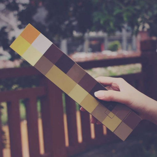 На картинке факел Майнкрафт (Minecraft), общий вид.