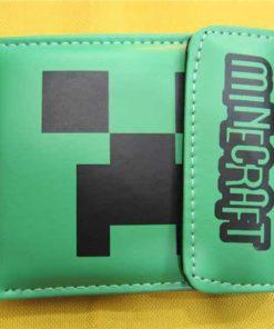На картинке кошелек Майнкрафт (Minecraft) — «Крипер», вид сзади.