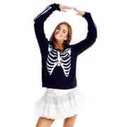 Толстовка-свитшот скелет фото