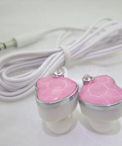 На картинке наушники сердце (сердечко) (3 варианта), цвет розовый.