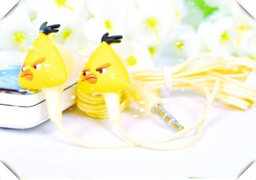 На картинке наушники Angry birds (Ангри берс) (5 вариантов), цвет желтый.