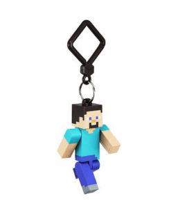 На картинке фигурка-брелок Стив из Майнкрафт (Minecraft).