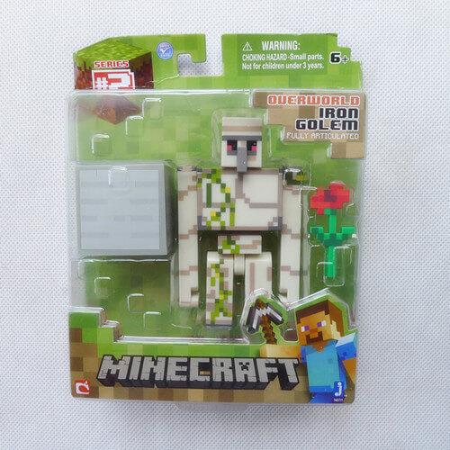 Minecraft-Overworld-4-Железный-Голем-Фигурку-Игрушки-и-Игры-По-Jazwares-Новые-в-Коробке