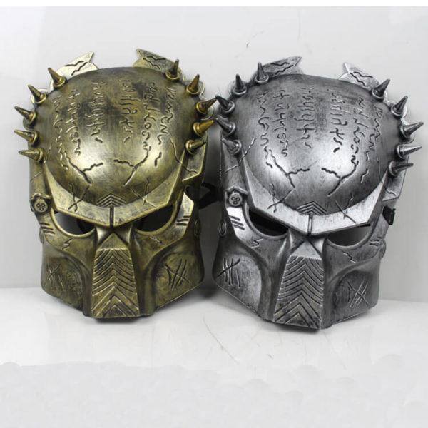 На картинке маска хищника (predator) 2 варианта, вид спереди.