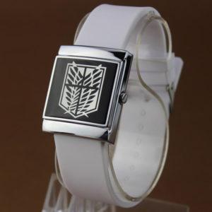 На картинке наручные часы Атака титанов (2 ), общий вид, цвет белый.