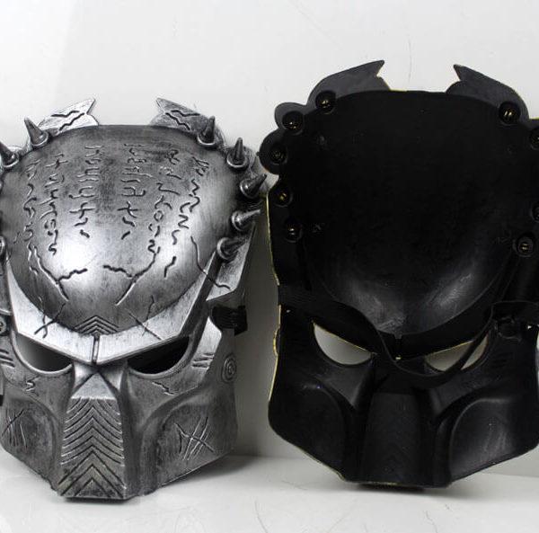 На картинке маска хищника (predator) 2 варианта, вид спереди и сзади.