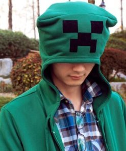 На картинке толстовка Крипер Майнкрафт (Minecraft), детали.