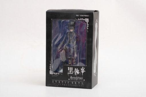 На картинке фигурка Сиэль Фантомхайв Темный дворецкий (Kuroshitsuji), вид спереди в упаковке.