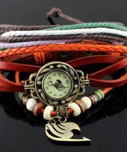 На картинке часы-браслет Хвост Феи (Фейри тейл), вид спереди.