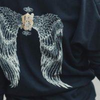 На картинке толстовка-платье с крыльями на спине (2 варианта), детали, цвет черный.