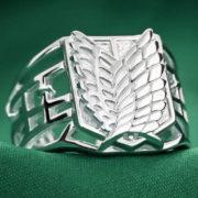 Кольцо Атака титанов (серебро 925 пробы) фото