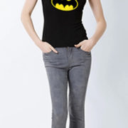 Футболка со знаком-логотипом Бэтмена (женская) фото