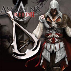 На картинке кулон (медальон) Ассасин крид (Assassins Creed) фото, вид спереди.