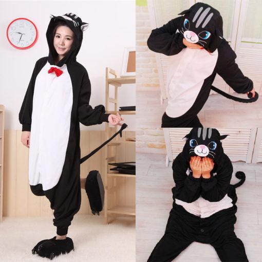 На картинке пижама-кигуруми «Кошка», детали.