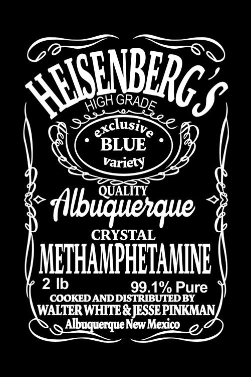 На картинке футболка Хайзенберг (Heisenberg), детали.