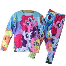 На картинке свитшот и леггинсы «My little pony», общий вид.