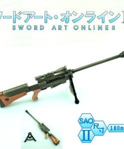 На картинке брелок «Снайперская винтовка Синон» (Sword Art Online) 2 варианта, общий вид, вариант Серебристый.