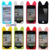 Силиконовый чехол с ушками кошки на айфон 4-4S-5-5S-6-6+, варианты цветов