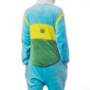 На картинке пижама-кигуруми «Финн» (Время приключений), вид сзади.
