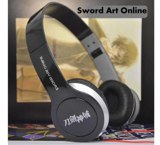 На картинке аниме наушники Sword Art Online, общий вид.