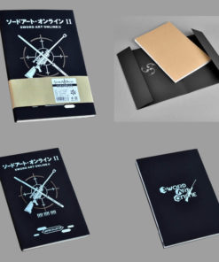 На картинке тетрадь-блокнот Sword Art Online.