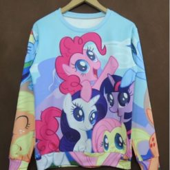 "На картинке свитшот ""Мy little pony"" (Дружба это чудо), вид спереди."